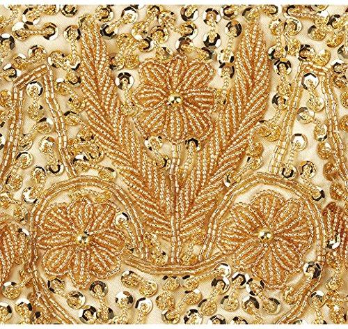 YOUAREFACNY  YAE-1004-7, Damen Clutch rot rot Einheitsgröße gold