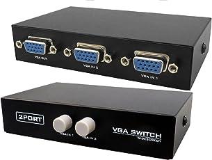 Cables Kart 2 Port Manual VGA Splitter