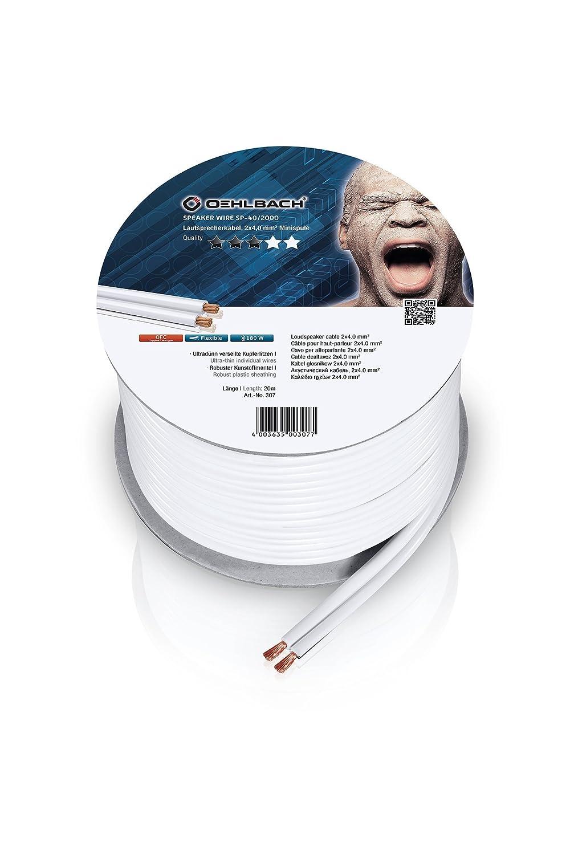 Oehlbach Speaker Wire SP-40 Lautsprecherkabel 2 x 4: Amazon.de ...