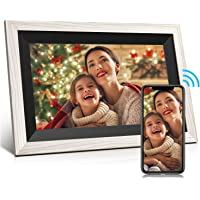 Digital Photo Frame Jeemak 10.1 Inch WiFi Picture Frame with HD IPS Touch Screen Auto-Rotate Adjustable Brightness Share…