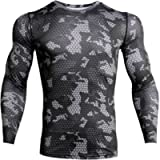 iCKER Base Layer Top Men's & Boy's Wicking Quick Dry Lightweight Sport Compression Tee Long Sleeve Shirt for Cycling…