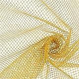 Fabulous Fabrics Gittertüll – Gold — Meterware ab 0,5m