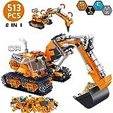 VATOS City Bausteine ab 6 7 8 9 10 Jahren Jungen, 513 Teile Konstruktionsspielzeug Bauset kreative 2-in-1 Geschenk für…