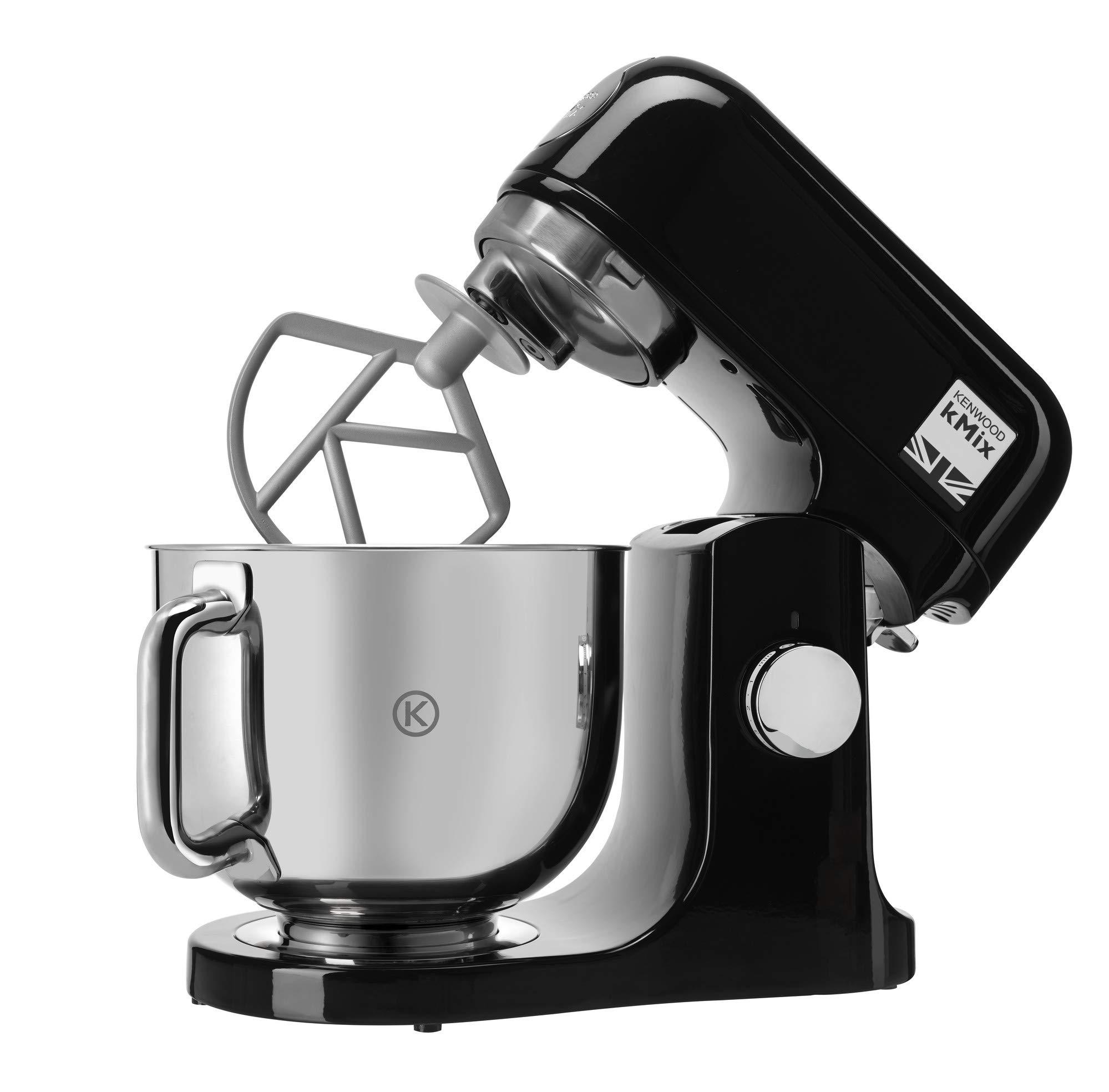 Kenwood-kMix-KMX75AB-KchenmaschineKchenmaschine-1000-W-Schssel-mit-5-l-Fassungsvermgen-inkl-Knethaken-Schneebesen-Mixer-K-Edelstahl-6-Geschwindigkeiten-Schwarz-und-Silber