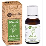 Naturalis Essence of Nature Citronella Essential Oil for Hair & Skin Care, Mosquito Repellent and Refreshing Aroma…