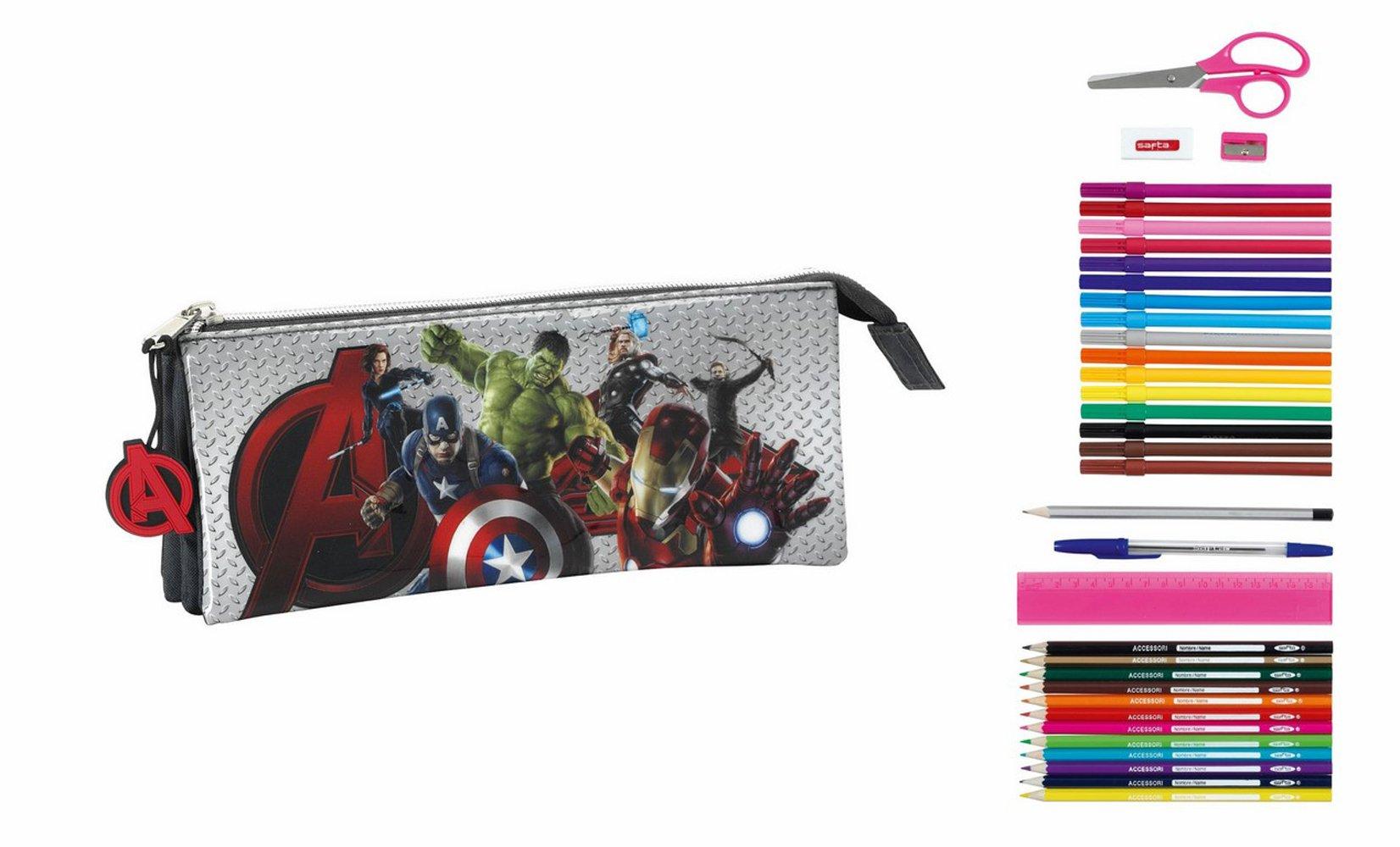 Avengers Age of Ultron – Portatodo Triple Lleno, 34 Piezas (SAFTA 811527706)