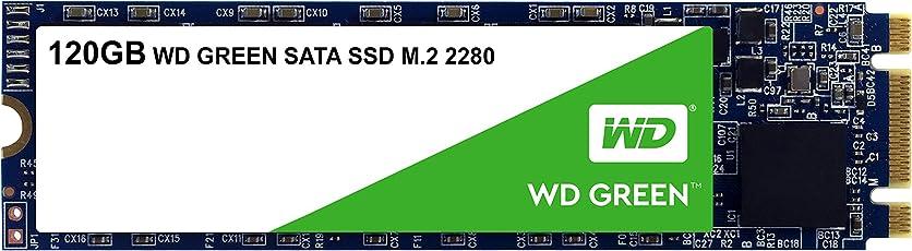 WD Green SSD 120 GB, Interne M.2 2280 Festplatte bis zu 545 MB/s Lesegeschwindigkeit; SSD (Solid State Drive) - SATA 6 Gbit/s