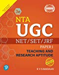 NTA UGC NET/SET/JRF - Paper 1: Teaching and Research Aptitude by Pearson | Latest 2019 UGC Syllabus | Includes 2012...
