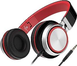 Sound Intone Ms200 faltbarer Stereo Kopfhörer ,Neues Modell, Leichtkopfhörer,on Ear,Noise Reduction Design,für Smartphones/ Mp3/4 Players/ Laptops/ Computers/ Tablet/ iphone/ samsung/ Ipod/ Andriod/ HTC (Schwarz / Rot)