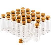 COM-FOUR® 30x Sets de pots à épices, mini-bouteille en verre, conservation d'huiles, d'épices, d'herbes ou de thé…