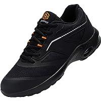 DYKHMILY Chaussures de sécurité pour femme - Coussin d'air - Chaussures de travail avec embout en acier - Légères et…