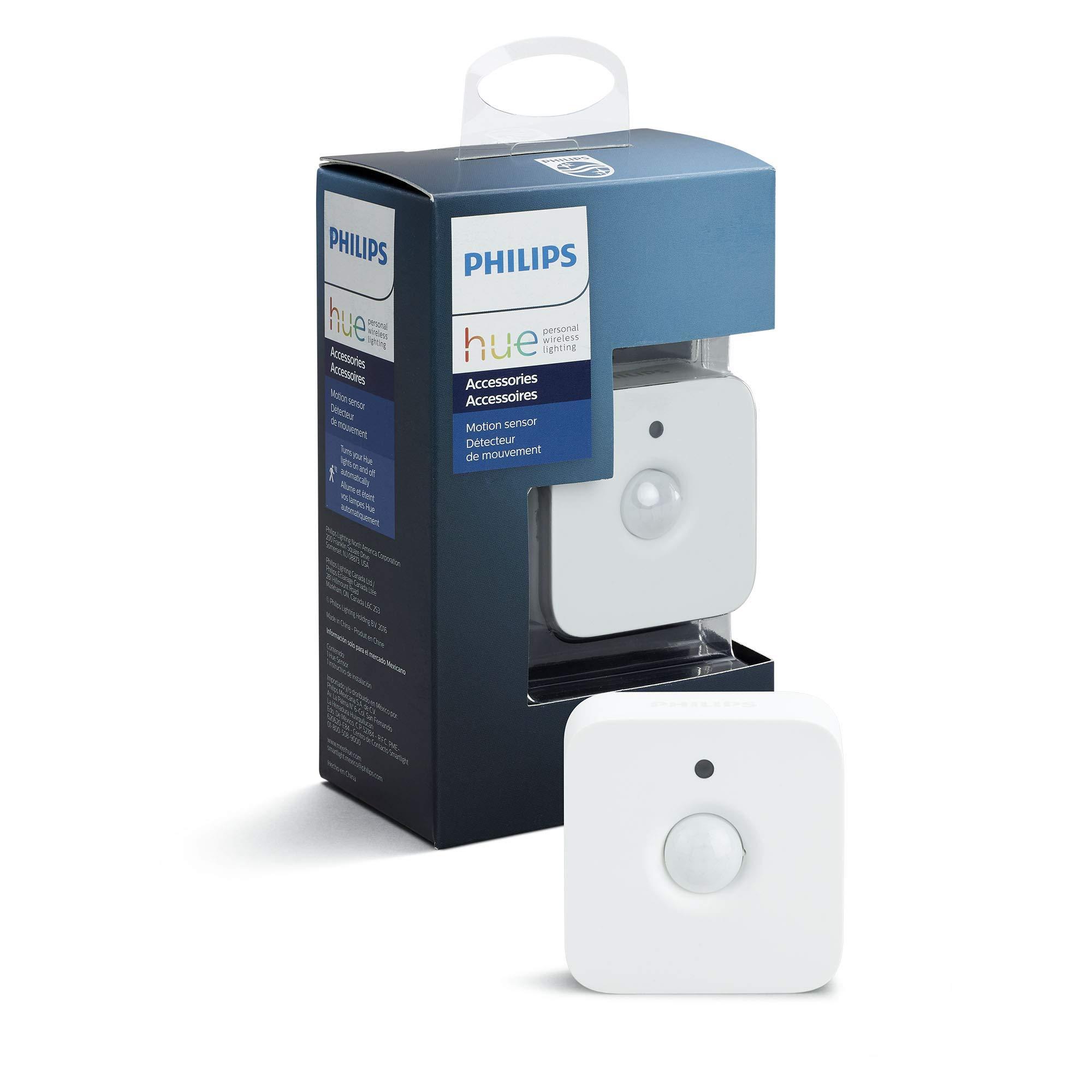 Philips Hue Bewegungssensor intelligenter Bewegungsmelder integrierter Tageslichtsensor Zubehör für Ihr Philips Hue System