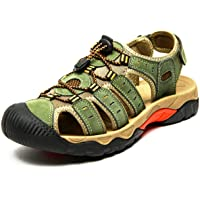 Eisrumu Walking Sandals Mens Outdoor Hiking Sandals Womens Beach Barefoot Adjustable Trekking Shoes with Closed-Toe…