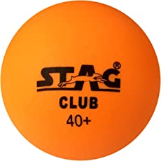 Stag Club-O Plastic Table Tennis Ball, 40mm Pack of 6 (Orange)