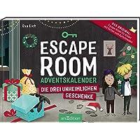 Escape Room. Die drei unheimlichen Geschenke. Der Adventskalender für Kinder von Eva Eich: Löse 24 Rätsel und öffne den…
