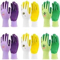 Jardineer Gardening Gloves Women 6 Pairs, Ladies Gardening Gloves Medium, Garden Gloves Women for Yard, Cleaning…