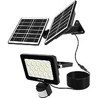 Solar Strahler mit Bewegungsmelder, MEIKEE 60 LED Solarlampe Außen Strahler Sensor IP66 Wasserdicht Solarleuchte 400LM…