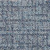 Teppichboden Auslegware Meterware Schlinge gemustert blau 400 cm und 500 cm breit, verschiedene Längen