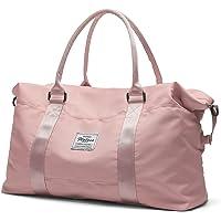 Travel Duffel Bag,Sports Tote Gym Bag,Shoulder Weekender Overnight Bag for Women, A-pink1-Large, L,