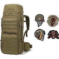 Mardingtop Sac à Dos Militaire 65/65 + 10L Sac à Dos Tactique avec Habillage Pluie pour Trekking/randonnée/Camping…