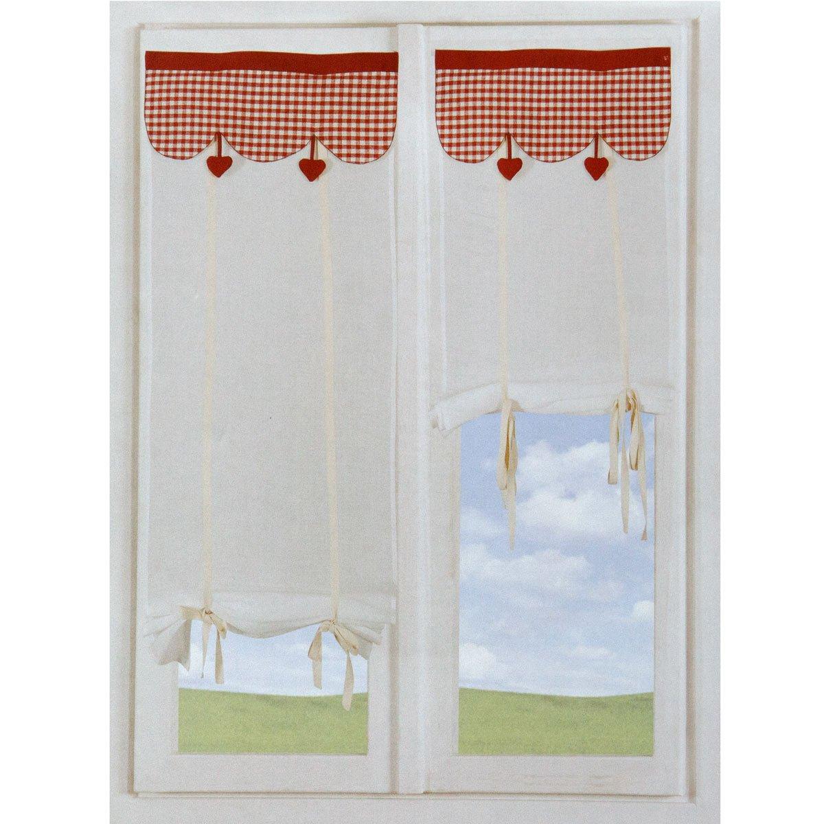 Coppia Tende tendine regolabili vetro finestra 60x150 cm Wendy ...