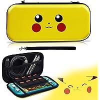Haobuy Custodia per Switch Lite, Cover Trasporto per Pokemon Protettiva Switch Lite, Portatile Pikachu Sottile Custodia…
