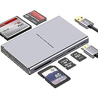 Super Speed USB Kartenleser, 5 in 1 Aluminium USB 3.0 Card Reader mit paraller Auslesungsfunktion USB Adapter für SD, CF…