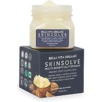 Bella Vita Organic SkinSolve Body Butter with Shea For Dry Skin, Stretch Marks, Irritation, Tattoo Balm, Make up Base…
