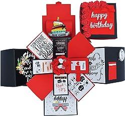 DecuT 3 Layered Romantic Handmade Explosion Box For Anniversary Love Explosion Box Gift For Birthday Explosion Box DIY Kit