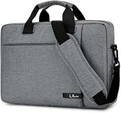 LXOICE Office Laptop Bags Briefcase 15.6 Inch for Women and Men (Grey)