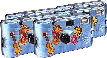 TopShot Flower Power Einwegkamera / Hochzeitskamera (27 Fotos, Blitz, 5-er Pack)
