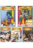 Mythological Tales (Illustrated) (Set of 5 Books with 85 Moral Stories) - for children - Mahabharata, Shri Krishna…
