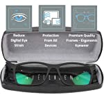 Intellilens® Premium Blue Cut Zero Power Spectacles with Anti-glare for Eye Protection from UV by Computer Tablet Laptop...