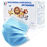 50 Pezzi MADE IN ITALY Mascherine Bambini Colorate protettiva colorata personale 3 strati CE tipo IIR, Nasello…