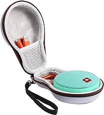 Shucase EVA Hartschalentasche für JBL Clip 2 Wasserdichter Tragbarer Wiederaufladbarer Lautsprecher. Passend für USB-Kabel und Ladegerät (gray)