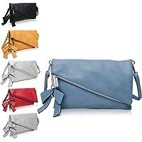 Clutch 2-in-1 - Kleine Handtasche Blau Elegante Abendtasche - Damen Umhängetasche - Schultertasche Abnehmbarer Gurt…