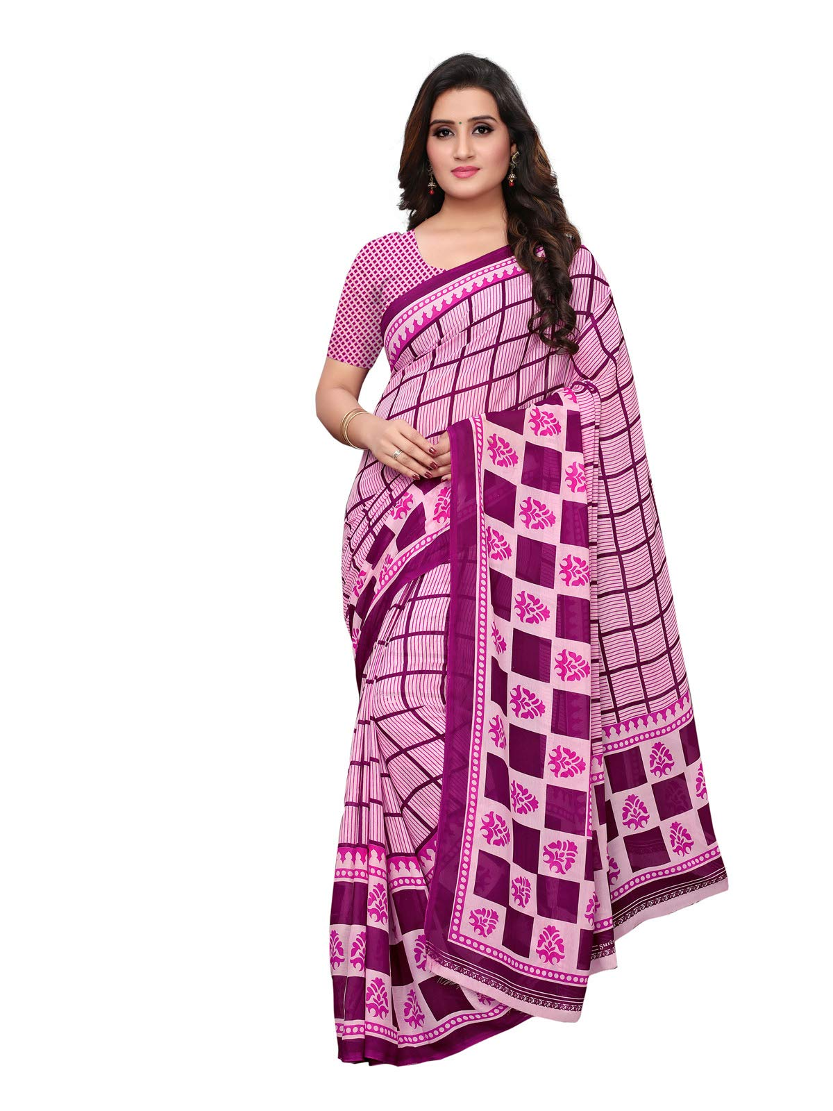 Kanchnar Women's Georgette Printed Casual Saree