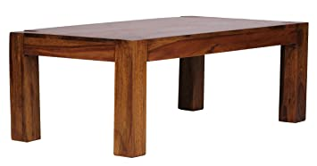 WOHNLING Couchtisch WL1211 Massiv Holz Sheesham 110 Cm Breit Wohnzimmer Tisch Design Dunkel Braun Amazonde Kche Haushalt