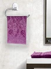 Eurospa Premium Cotton Marvel 410 GSM Hand Towel Set (Pack of 6, Purple)