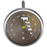 WMF Scala Grill-/ Fleischthermometer, mit Markierung Garpunkte für Steak Rind Kalb Lamm Schwein und Geflügel, Sonde bis 110°C