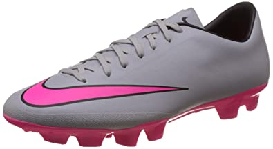 Nike Men\u0027s Mercurial Victory V Hg-V Wolf Grey, Hyper Pink, Black Football  Boots -11 UK/India (46 EU)(12 US): Buy Online at Low Prices in India -  Amazon.in