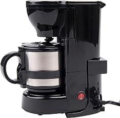 24V 24 Volt LKW Kaffeemaschine mit Isolierkanne und Permanentfilter, 24 Volt 300 Watt Filterkaffeemaschine mit Halterung