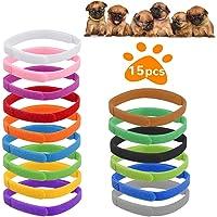 QIMMU Collari ID Cucciolo,Collarini Regolabili Collare, Collari di Identificazione per Cuccioli, Collari per Cuccioli di…