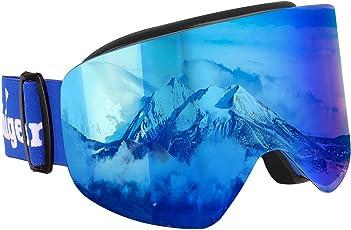 Unigear Skibrille, Skido X1, Snowboardbrille Schneebrille mit UV-Schutz Beschlagschutz Augenschutz, für Herren Frauen und Kinder, Skifahren Rodeln Snowboarden Eisklettern geeignet