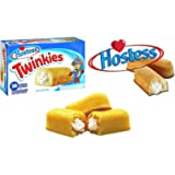 Hostess Twinkies Fluffy Golden Bake Creamy Filling Snack 1 Pack of 10 Cakes