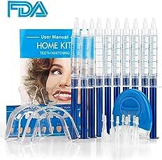 HailiCare Professionelles Zahnaufhellung Gel für Zuhause, Zahnweiß-Bleichsystem entfernt Ablagerungen und Verfärbungen, 10x Whitening Gel 2x Mundschale & Beschleunigungslicht