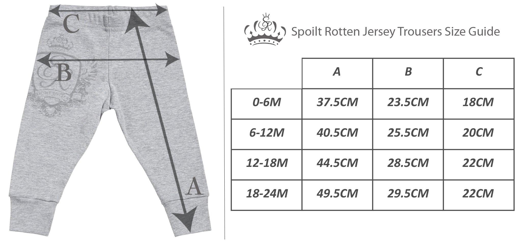 Spoilt Rotten SR - Problema Doble - Conjunto Gemelo - Regalo para bebé - Azul Body para bebés & Negro Pantalones para… 3