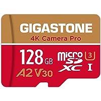 Gigastone 4K Kamera Pro Micro SD Karte 128 GB und SD-Adapter, Kompatibel mit GoPro Drohne und Switch, bis zu 100/50 MB/s…