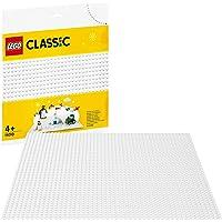 LEGO Classic La plaque de base blanche 25 cm x 25 cm pour la base de construction des ensembles d'hiver, 80 pièces…