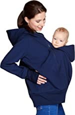Be! Mama Wasserdichte All-Weather 3in1 - Tragejacke & Umstandsjacke & Damenjacke in Einem aus Softshell (Wassersäule: 10.000 mm)